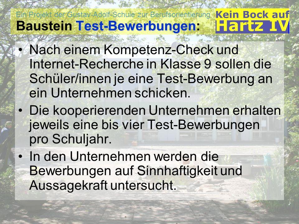 Baustein Test-Bewerbungen: