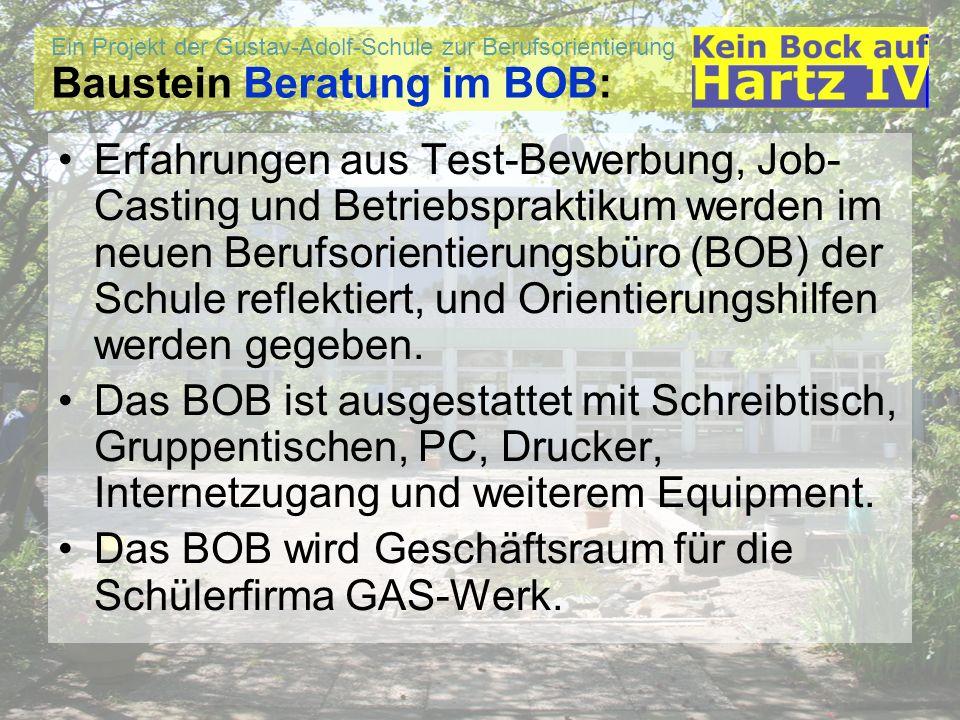 Baustein Beratung im BOB: