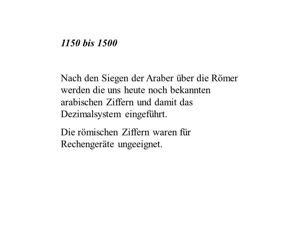1150 bis 1500