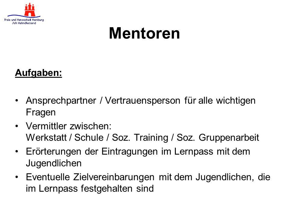 Mentoren Aufgaben: Ansprechpartner / Vertrauensperson für alle wichtigen Fragen.