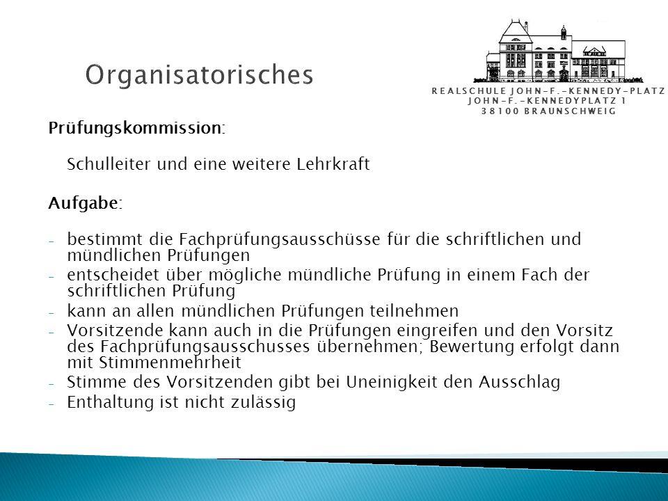 Organisatorisches Prüfungskommission: