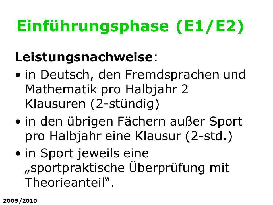 Einführungsphase (E1/E2)