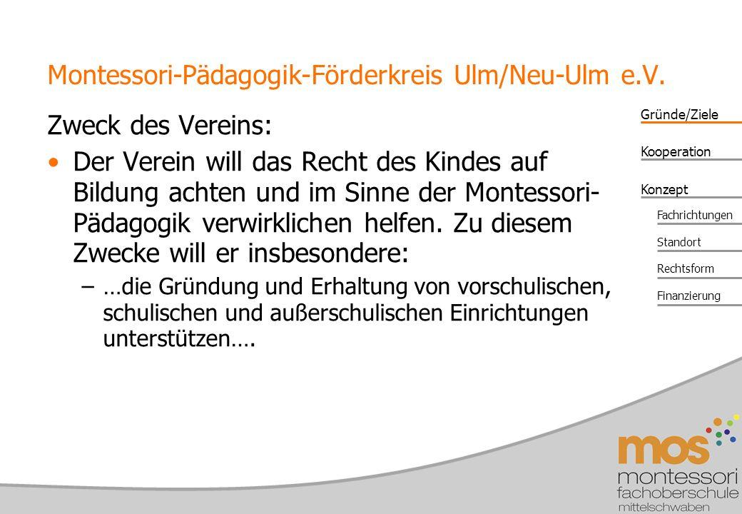 Montessori-Pädagogik-Förderkreis Ulm/Neu-Ulm e.V.