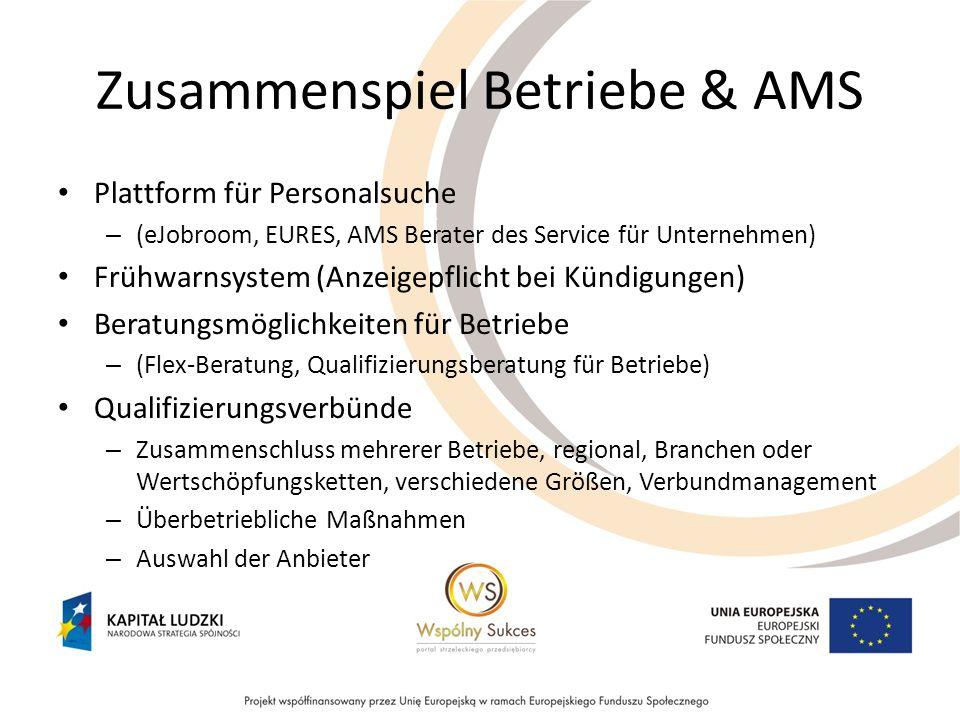 Zusammenspiel Betriebe & AMS