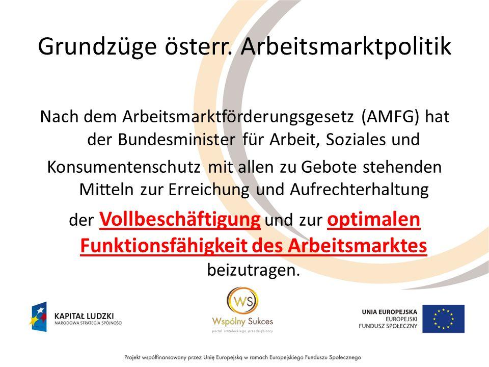 Grundzüge österr. Arbeitsmarktpolitik