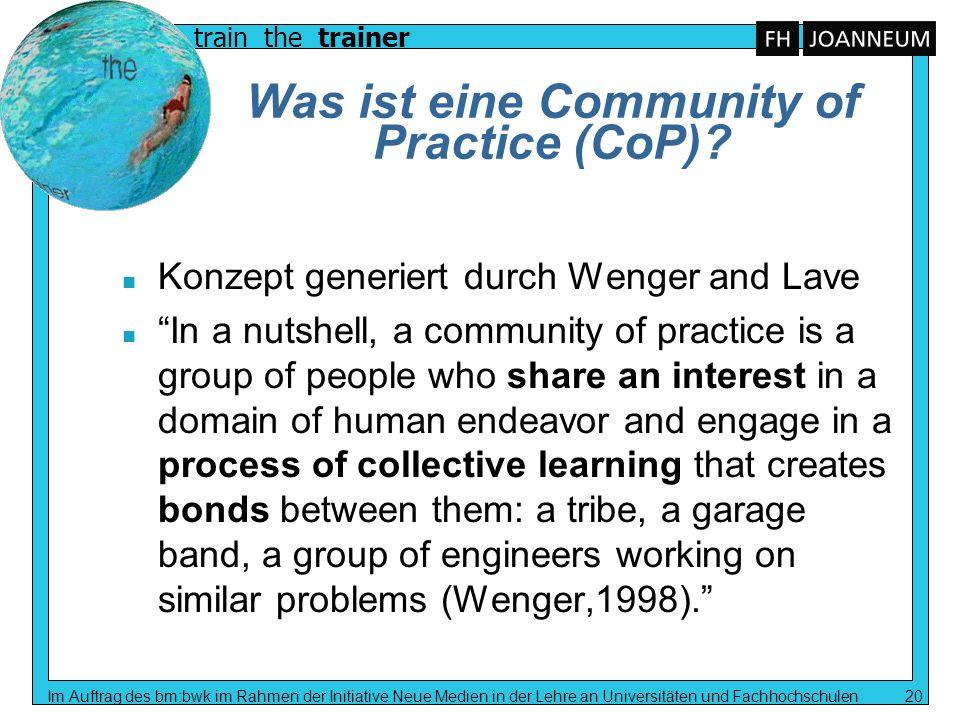 Was ist eine Community of Practice (CoP)