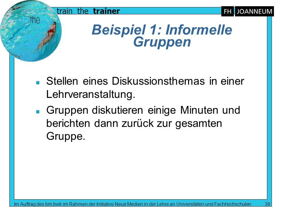 Beispiel 1: Informelle Gruppen