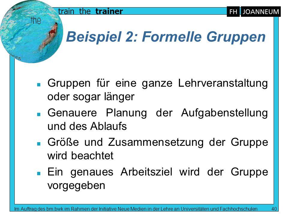 Beispiel 2: Formelle Gruppen