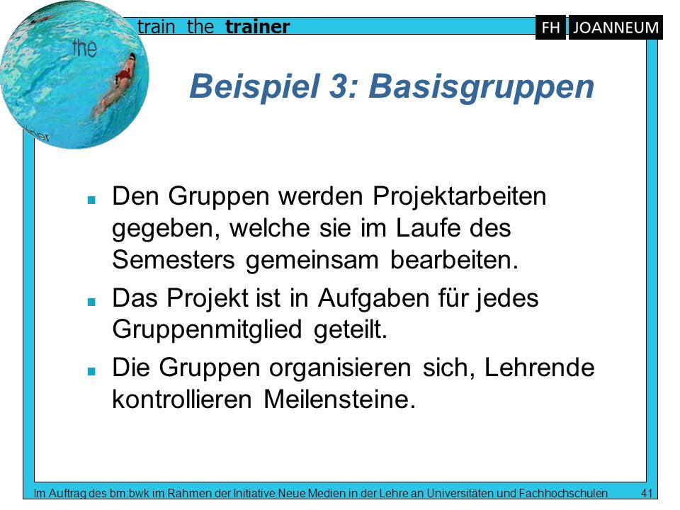 Beispiel 3: Basisgruppen