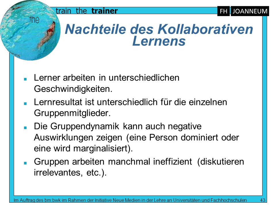 Nachteile des Kollaborativen Lernens