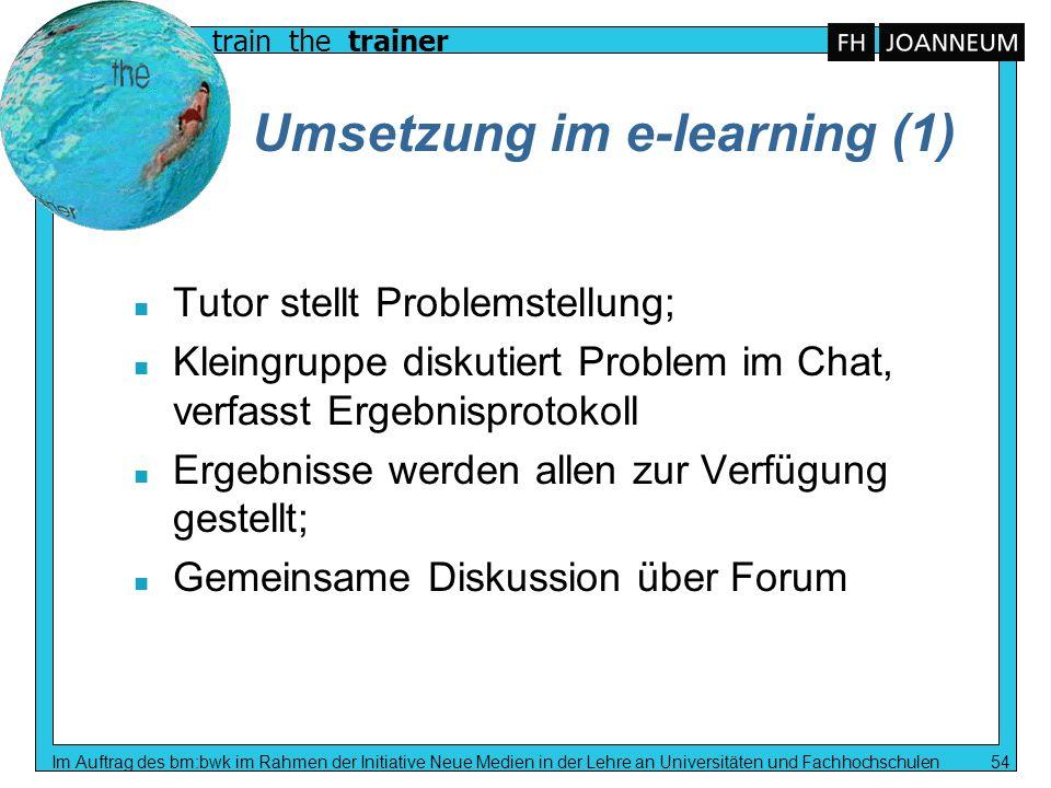 Umsetzung im e-learning (1)