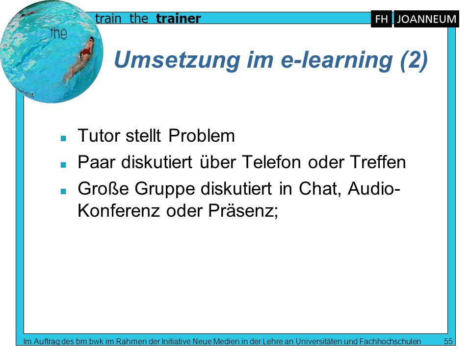 Umsetzung im e-learning (2)