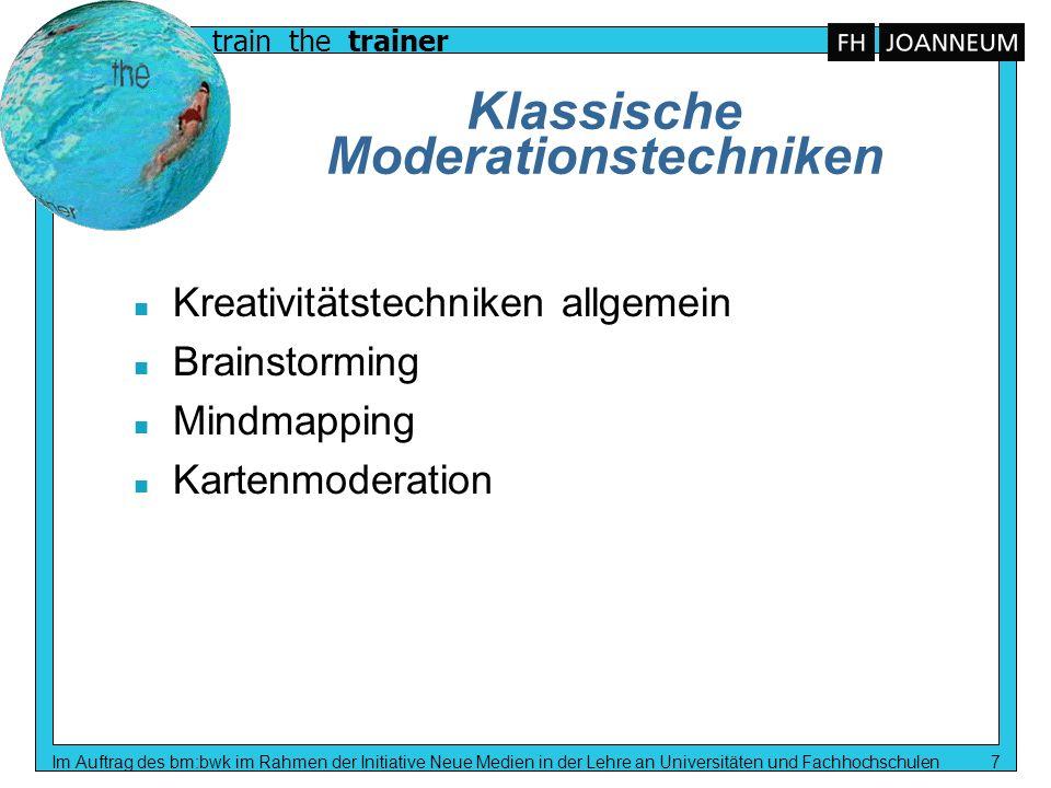 Klassische Moderationstechniken