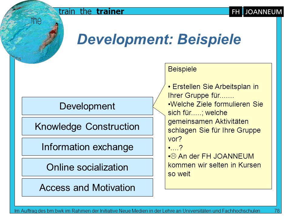 Development: Beispiele