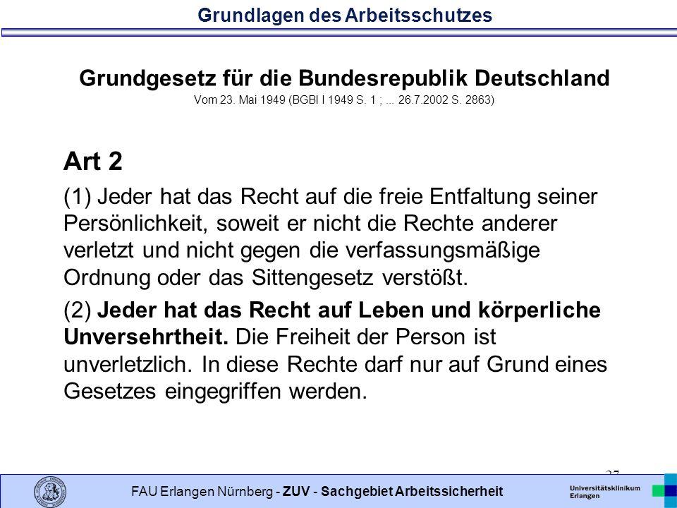Grundgesetz für die Bundesrepublik Deutschland Vom 23
