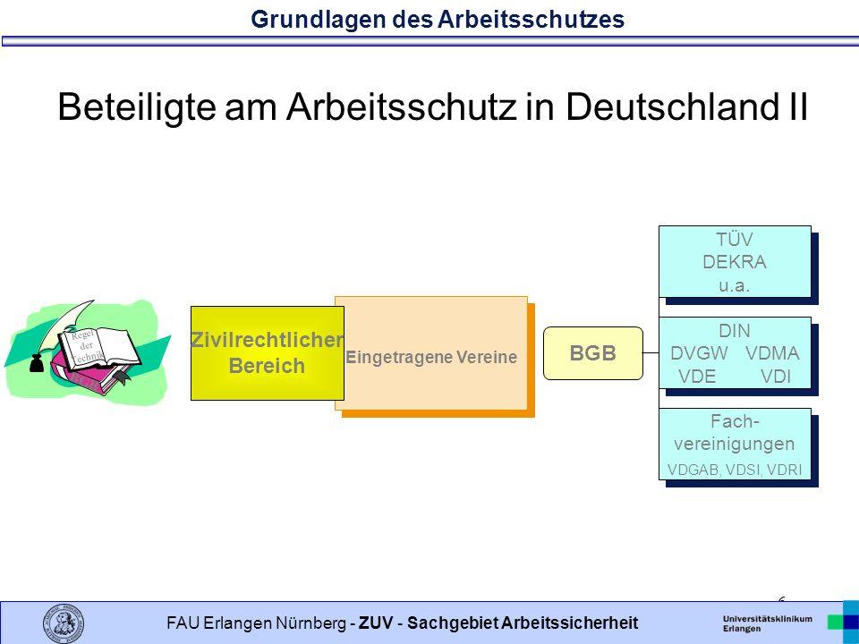 Beteiligte am Arbeitsschutz in Deutschland II