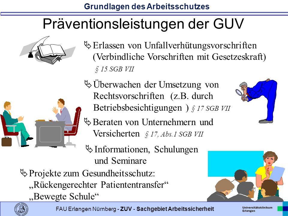 Präventionsleistungen der GUV