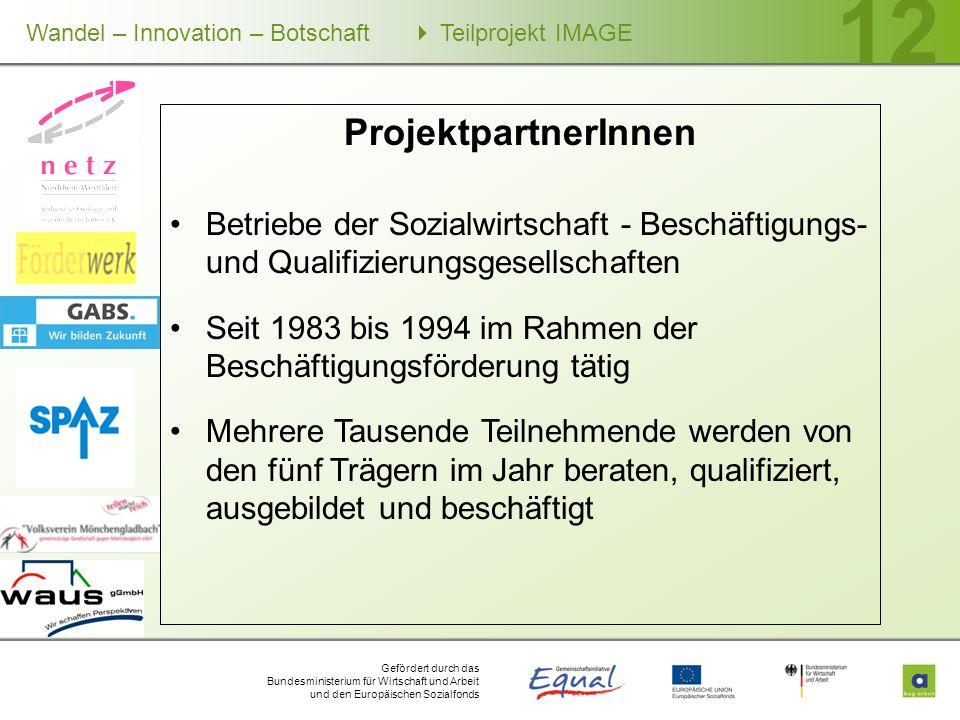 ProjektpartnerInnen Betriebe der Sozialwirtschaft - Beschäftigungs- und Qualifizierungsgesellschaften.