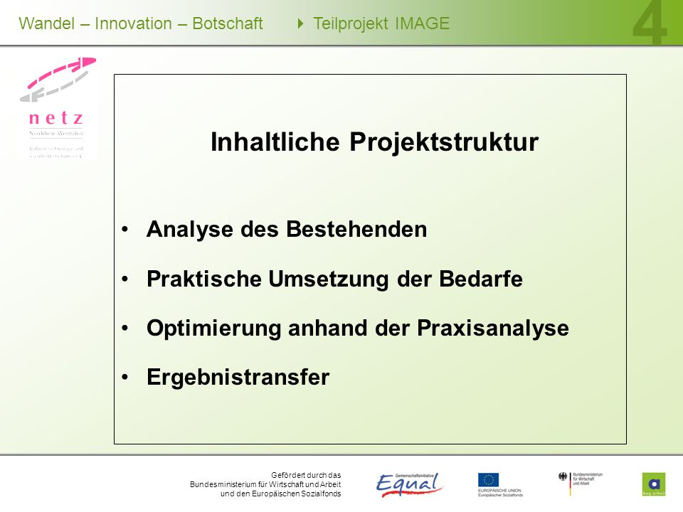 Inhaltliche Projektstruktur