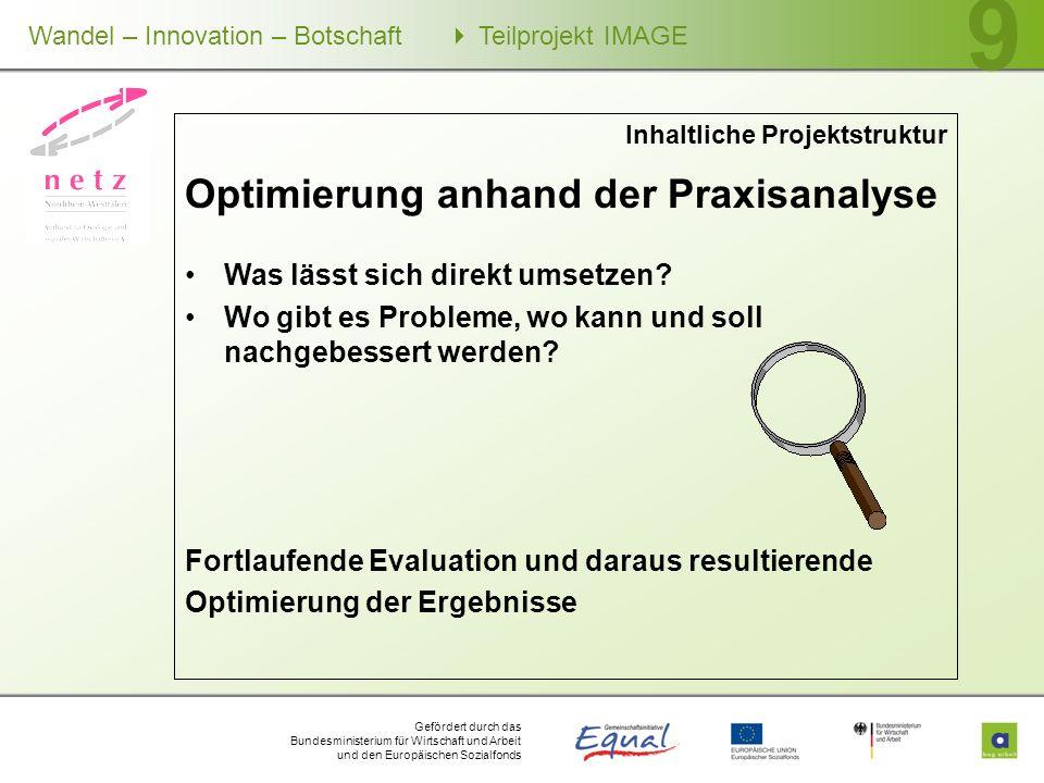 Optimierung anhand der Praxisanalyse