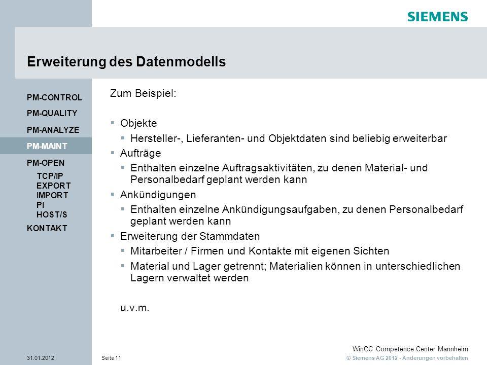 Erweiterung des Datenmodells