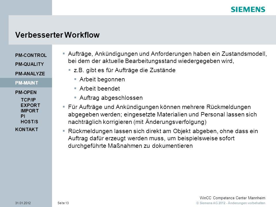 Verbesserter Workflow