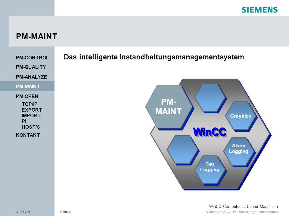 PM-MAINT PM- MAINT Das intelligente Instandhaltungsmanagementsystem
