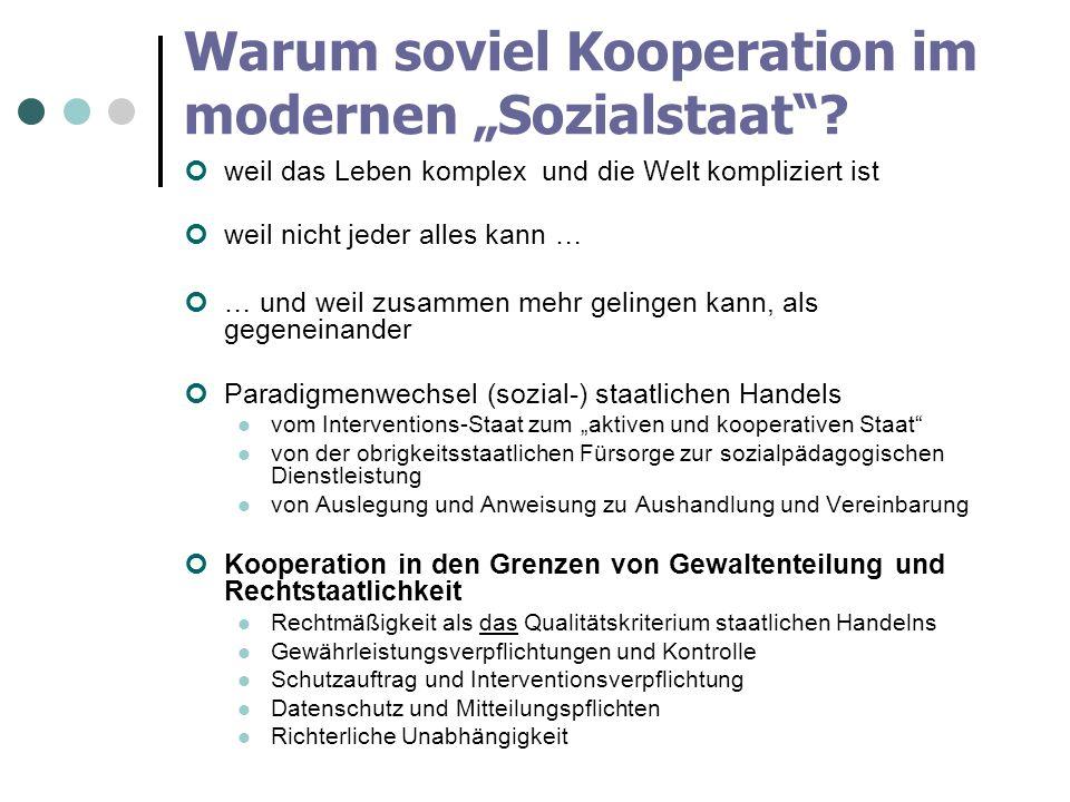 """Warum soviel Kooperation im modernen """"Sozialstaat"""