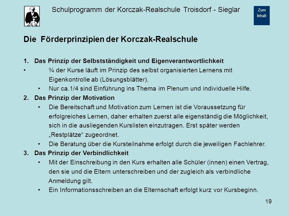 Die Förderprinzipien der Korczak-Realschule
