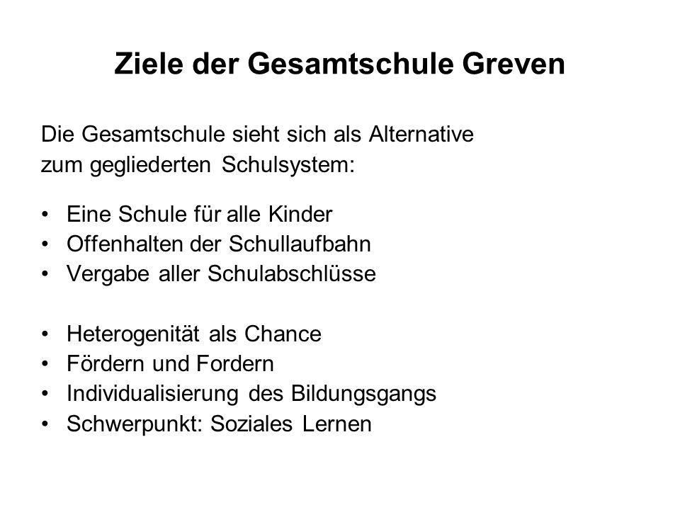 Ziele der Gesamtschule Greven