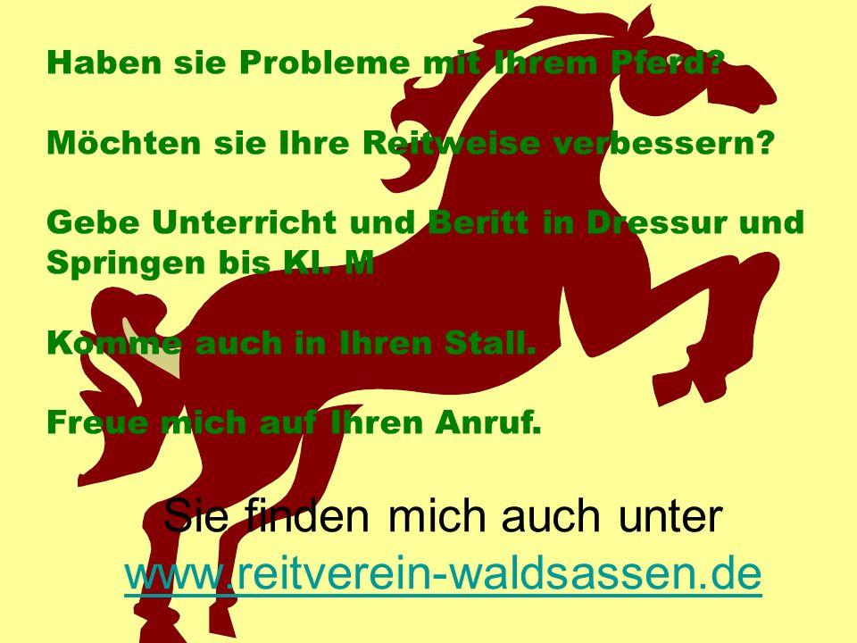 Sie finden mich auch unter www.reitverein-waldsassen.de