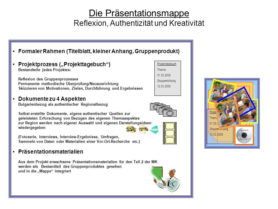 Die Präsentationsmappe Reflexion, Authentizität und Kreativität