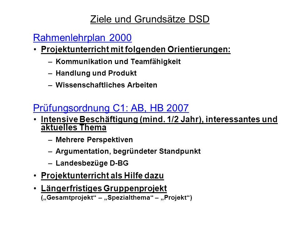 Ziele und Grundsätze DSD