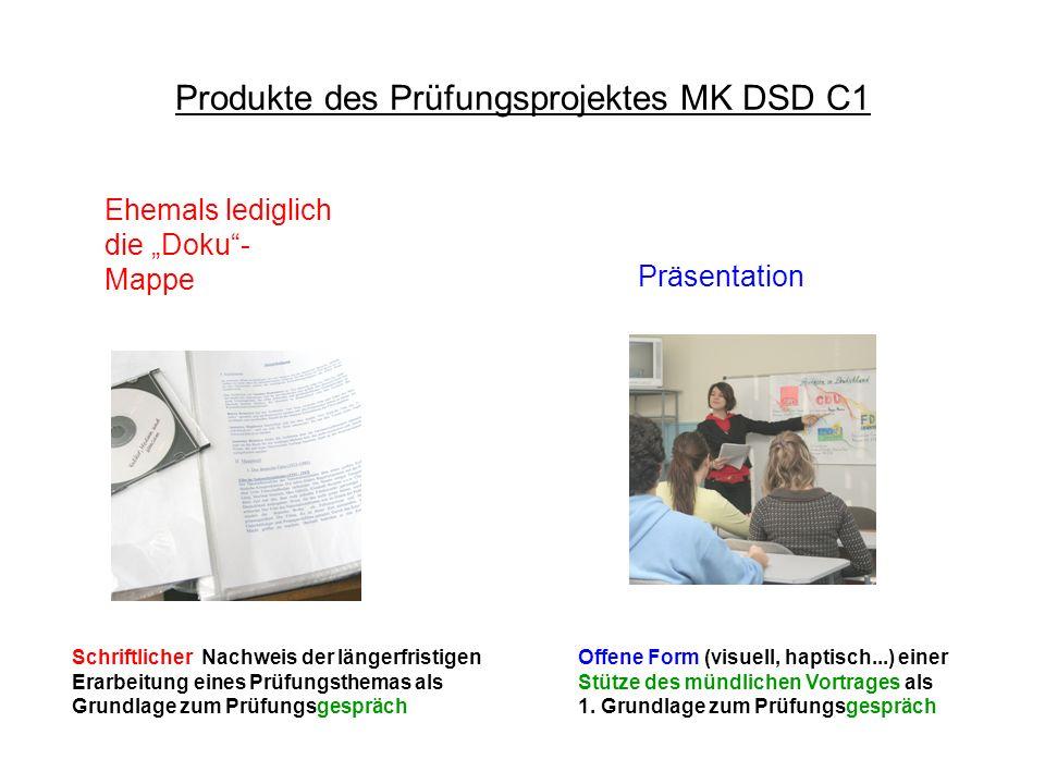Produkte des Prüfungsprojektes MK DSD C1