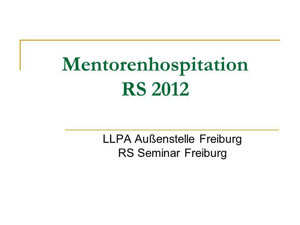 Mentorenhospitation RS 2012