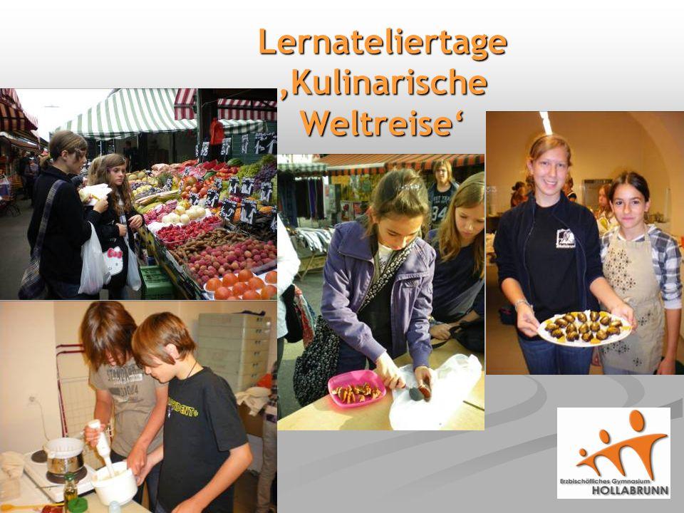 Lernateliertage 'Kulinarische Weltreise'