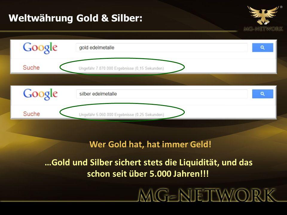 Wer Gold hat, hat immer Geld!
