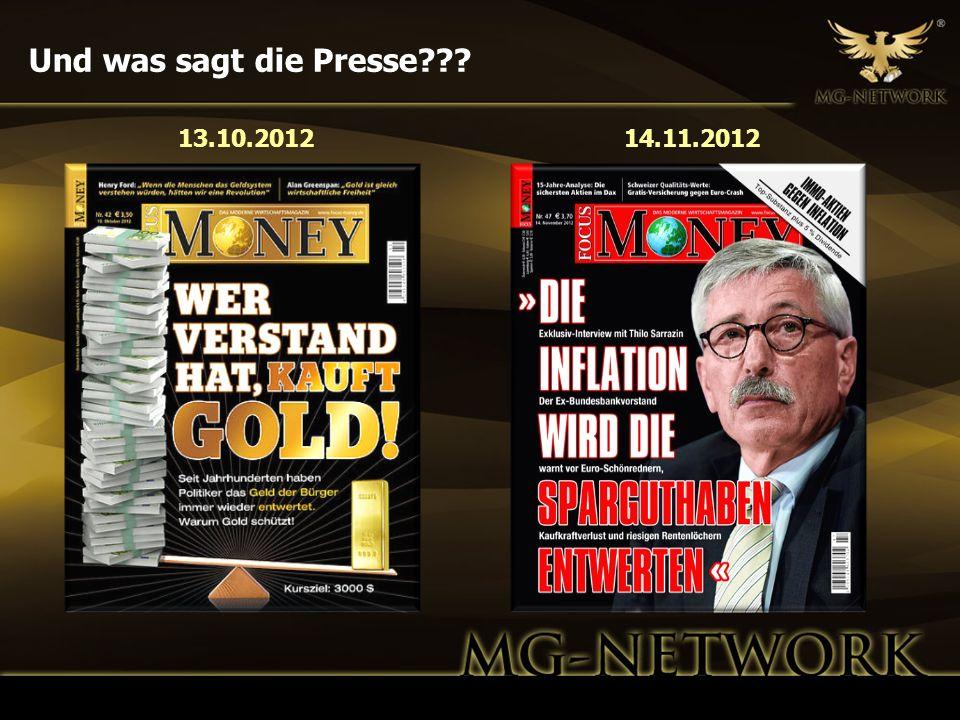 Und was sagt die Presse 13.10.2012 14.11.2012 12
