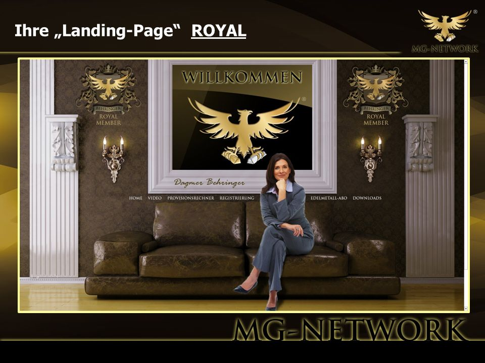 "Ihre ""Landing-Page ROYAL"