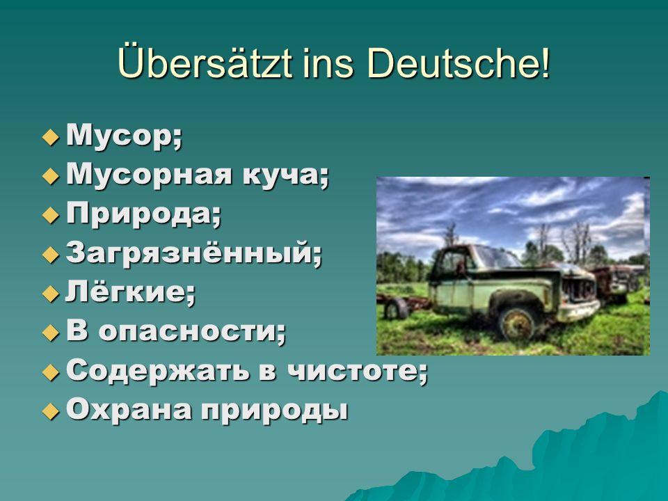 Übersätzt ins Deutsche!