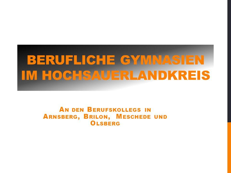 Berufliche Gymnasien im Hochsauerlandkreis