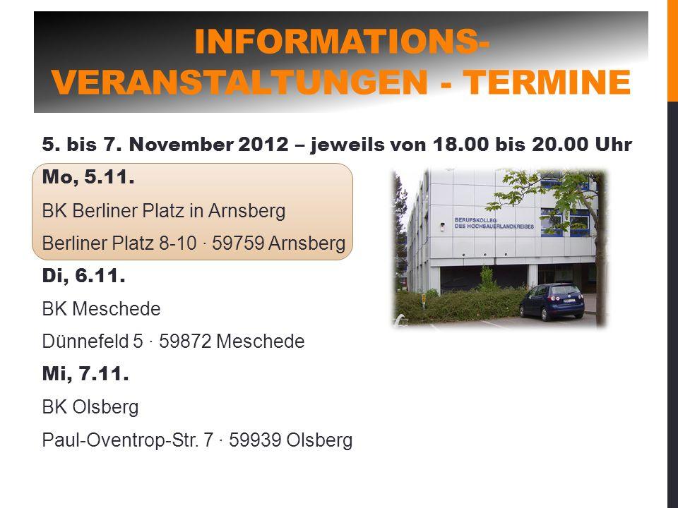 Informations-veranstaltungen - Termine