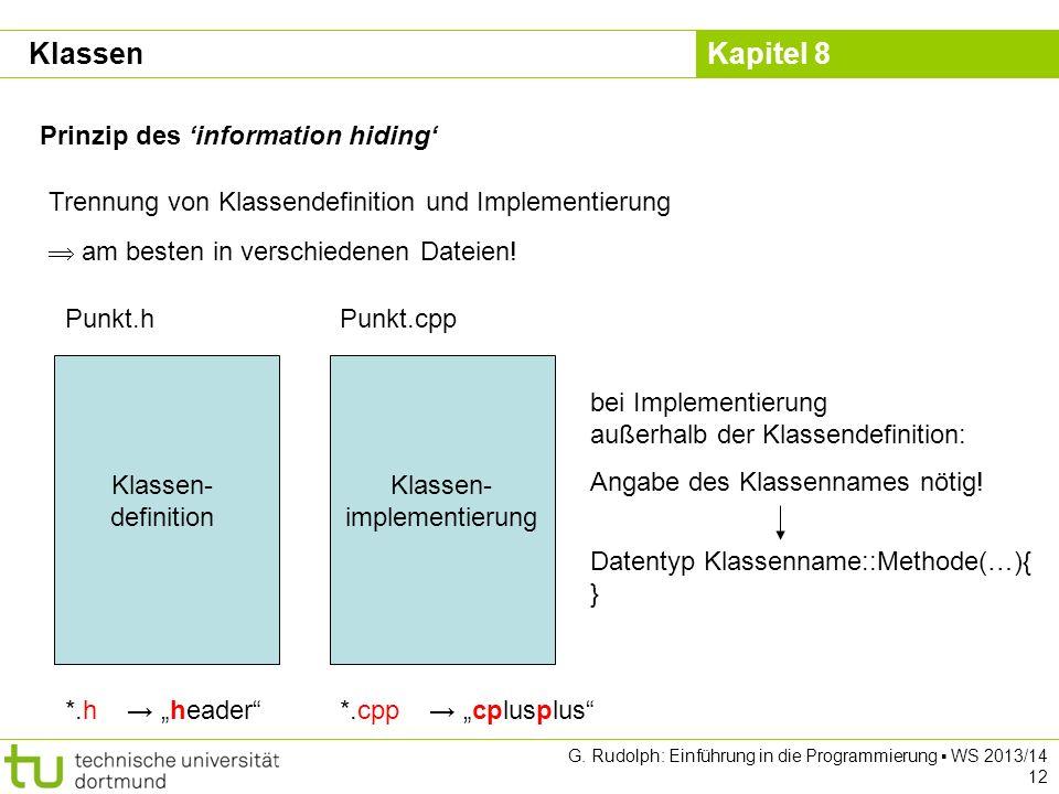 Klassen- implementierung