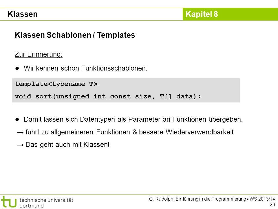 Klassen Schablonen / Templates