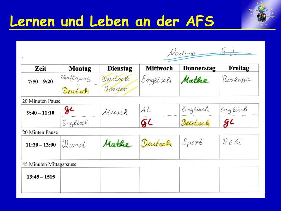 Lernen und Leben an der AFS