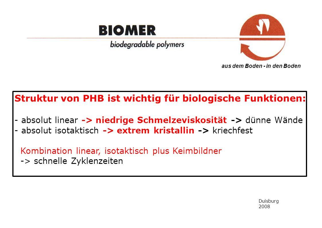 Struktur von PHB ist wichtig für biologische Funktionen: