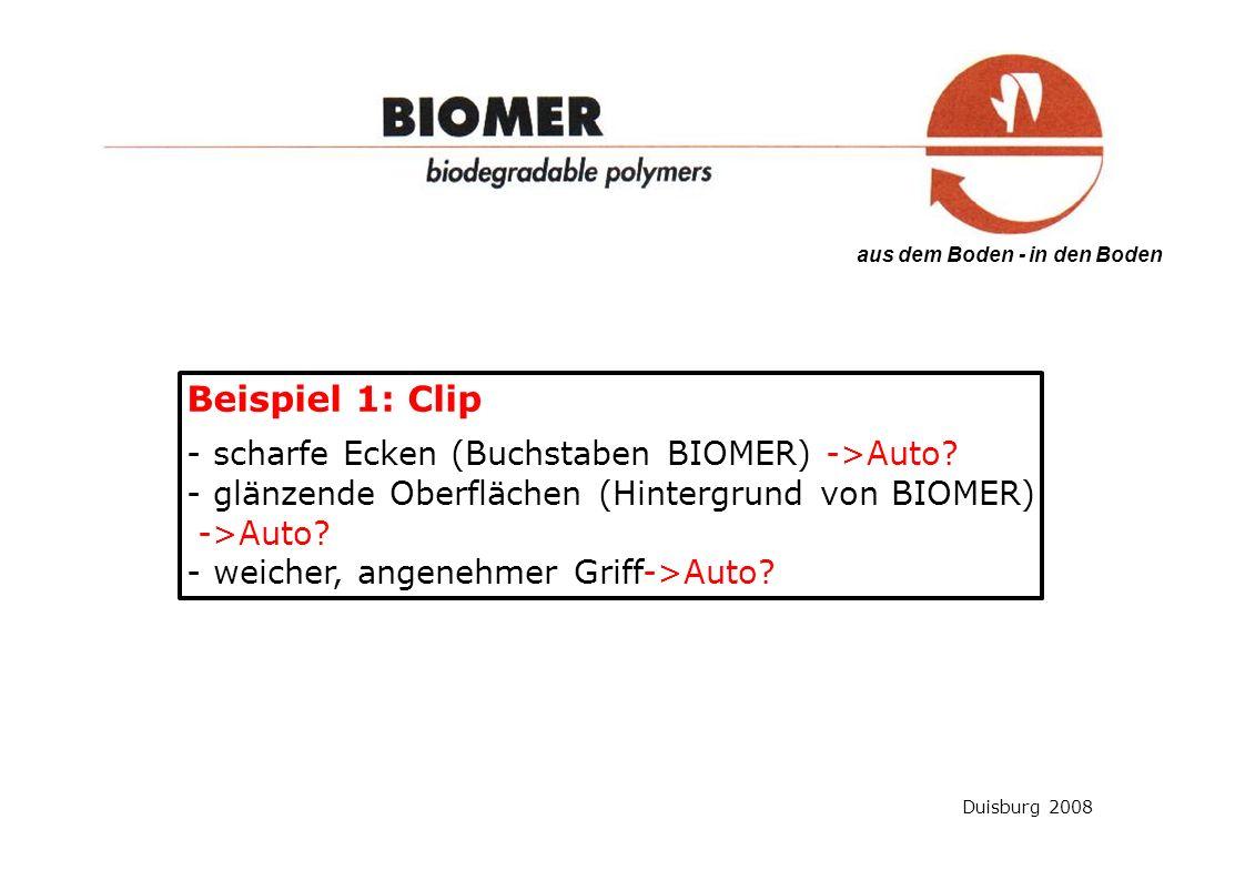 Beispiel 1: Clip - scharfe Ecken (Buchstaben BIOMER) ->Auto