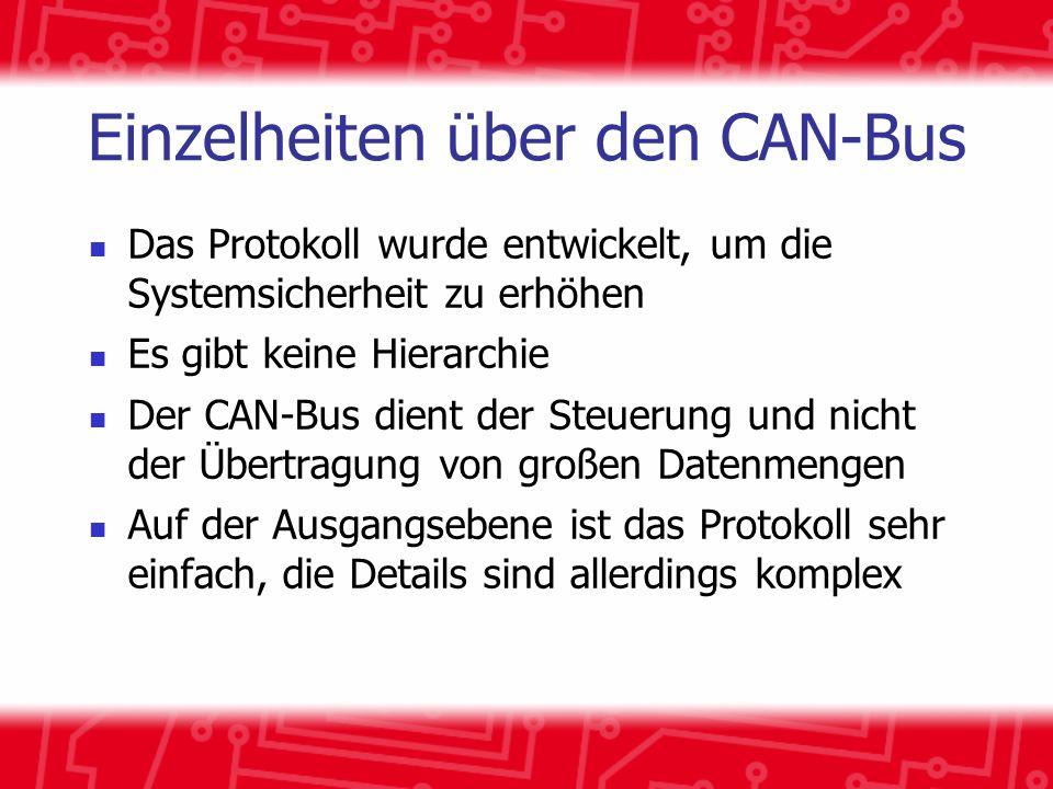 Einzelheiten über den CAN-Bus