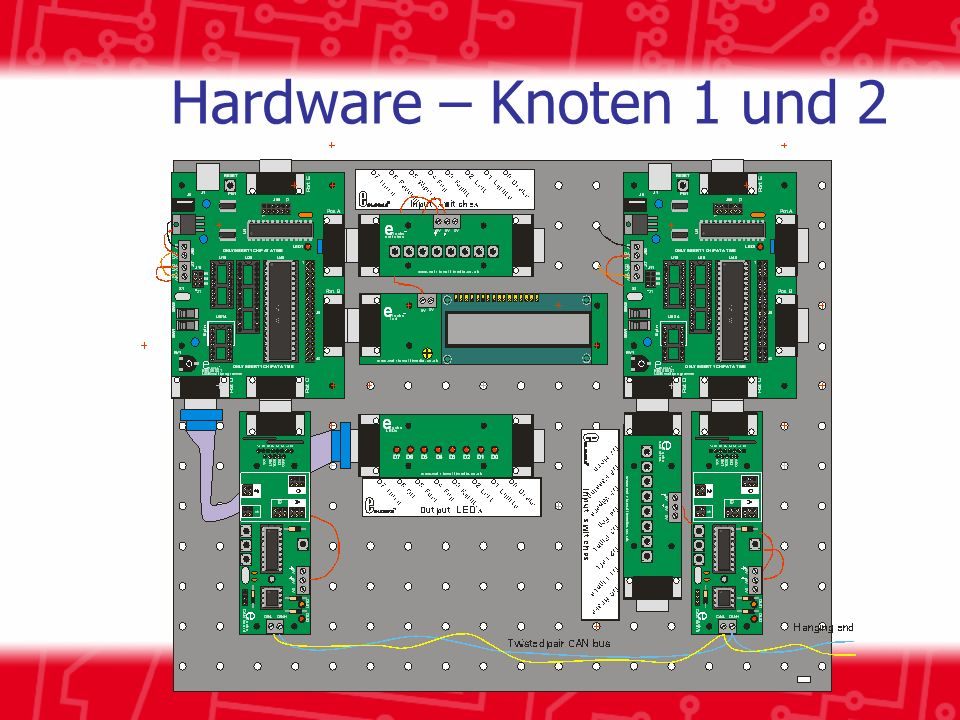 Hardware – Knoten 1 und 2 Node 1 is mimics the dashboard.