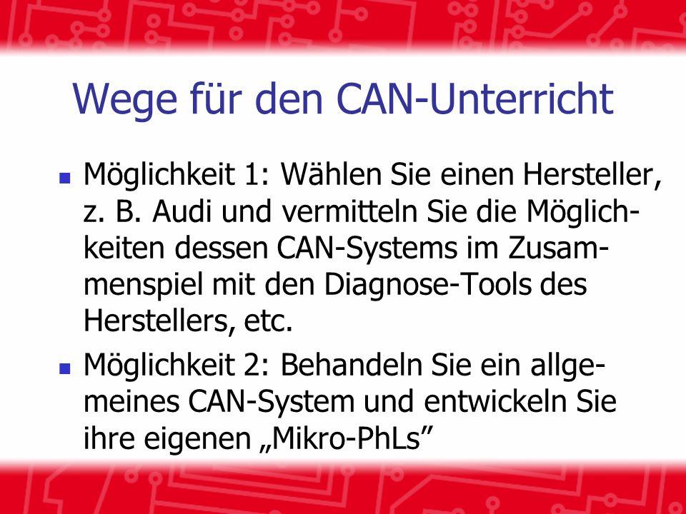 Wege für den CAN-Unterricht